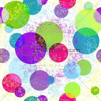Grungy seamless colorful pattern