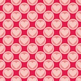 Pink and red vector background with hearts.