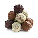 pile of chocolate truffles