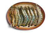 tiger shrimps on plate