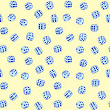 Vector dices - seamless pattern