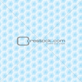 Abstract vector seamless texture - light blue hexagons