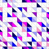 Seamless vector blue, pink violet and white pattern, texture or background. Colorful geometric mosaic shapes.