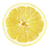 Slice of lemon fruit