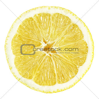 Slice of lemon fruit