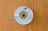 empty espresso cup