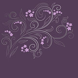 Design floral vector background