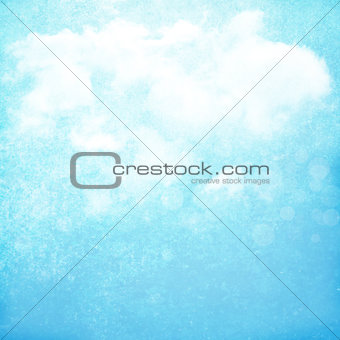 Grunge sky with clouds background
