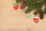 Christmas fir tree and decor