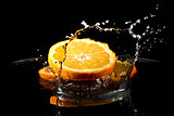 Citrus fruits in water