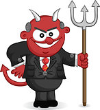 Business Cartoon - Boss Man Devil