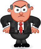 Business Cartoon - Boss Man Angry