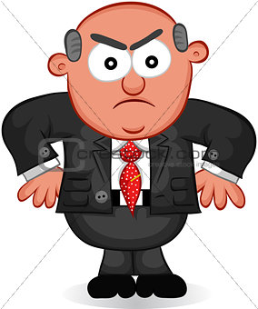 Business Cartoon - Boss Man Angry