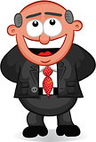 Business Cartoon -  Boss Man Laughing
