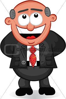 Business Cartoon -  Boss Man Laughing