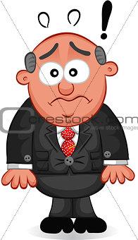 Business Cartoon - Boss Man Shocked
