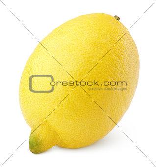 Single lemon on white