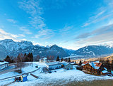 Winter mountain village (Austria).