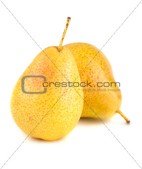 Pair of yellow ripe pears