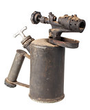 Vintage old rusty blowtorch