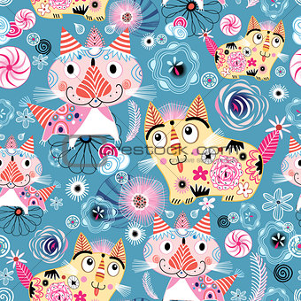 Bright pattern of the cats