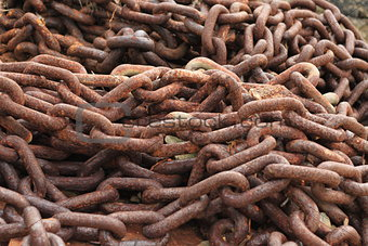 Timeless Rusty Anchor Chain by Chip