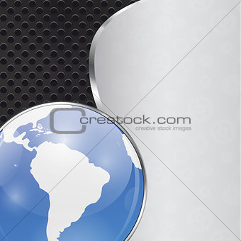 Abstract Background with Glass Globe Vector Illistration