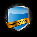 Protect  shield vector illustration