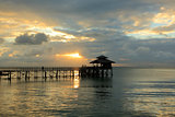 the sunset of bintan island