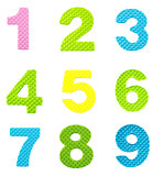 Numbers from one to nine