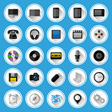Flat icons and pictograms set. Vector illustration.