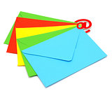 colorful envelopes with email icon