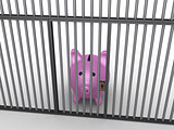 Pig money box in prison