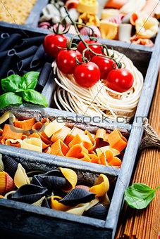 Assorted pastas