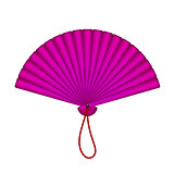 Purple oriental fan