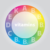 vector notation vitamins