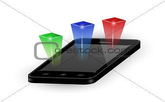 smartphone with three color elements
