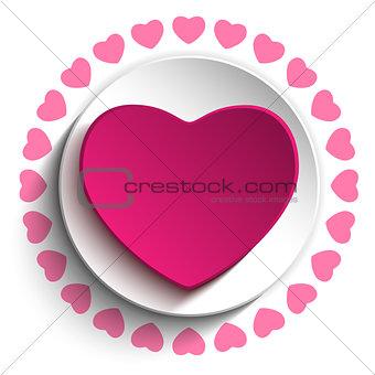 Valentine Day Love Heart Pink Background