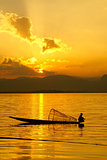 Sunset, Inle Lake, Myanmar