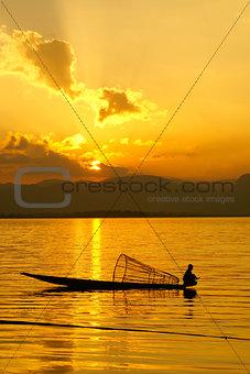 Sunset, Inle Lake, Myanmar
