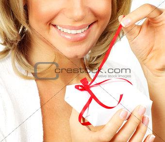 Beautiful female opening gift