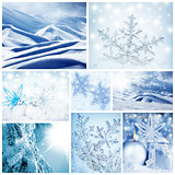 Wintertime concept collage