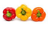 Red orange and yellow peppers