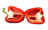 Red Bell Pepper cut