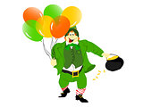 leprechaun balloons pot of gold