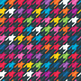Abstract seamless background with houndstooth pattern.