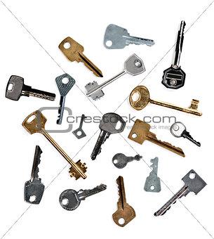 old keys from the door