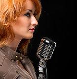 Beautiful redhead singer