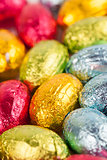 Chocolate eggs background