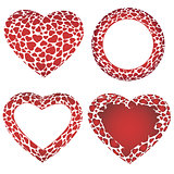 Vector heart frames set